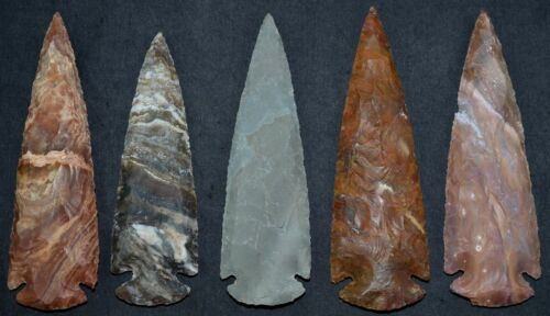 """*** 5"""" Flint Spearhead Arrowhead OH Collection Project Point Knife Blade ***"""
