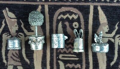 Collection of 5 small pewter pot containers. Tooth fairy. Herb boxes. Trinkets