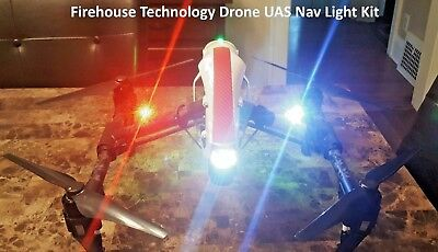 FIREHOUSE TECHNOLOGY DRONE DUAL STROBE LIGHT NAVIGATION KIT DJI INSPIRE MAVIC RC