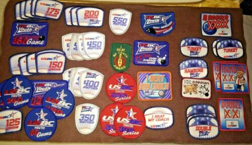 Lot of 50 USBC Bowling Patches