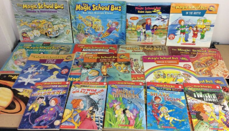 Lot of 20  Magic School Bus Series Books Free Shipping - Great Science Books