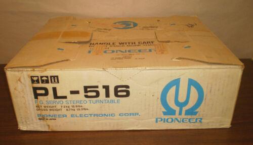 Vintage Pioneer PL-516 Turntable Dust Cover Belt Grado M+ Cartridge With Box