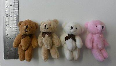 20 small Soft  plush mini bears Job Lot mixed colours  cream  brown pink beige