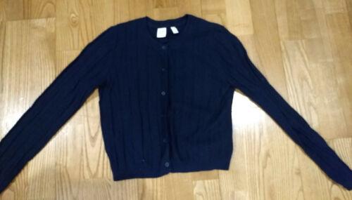 Girls Gap Navy Cargian Sweater Size 10 EUC