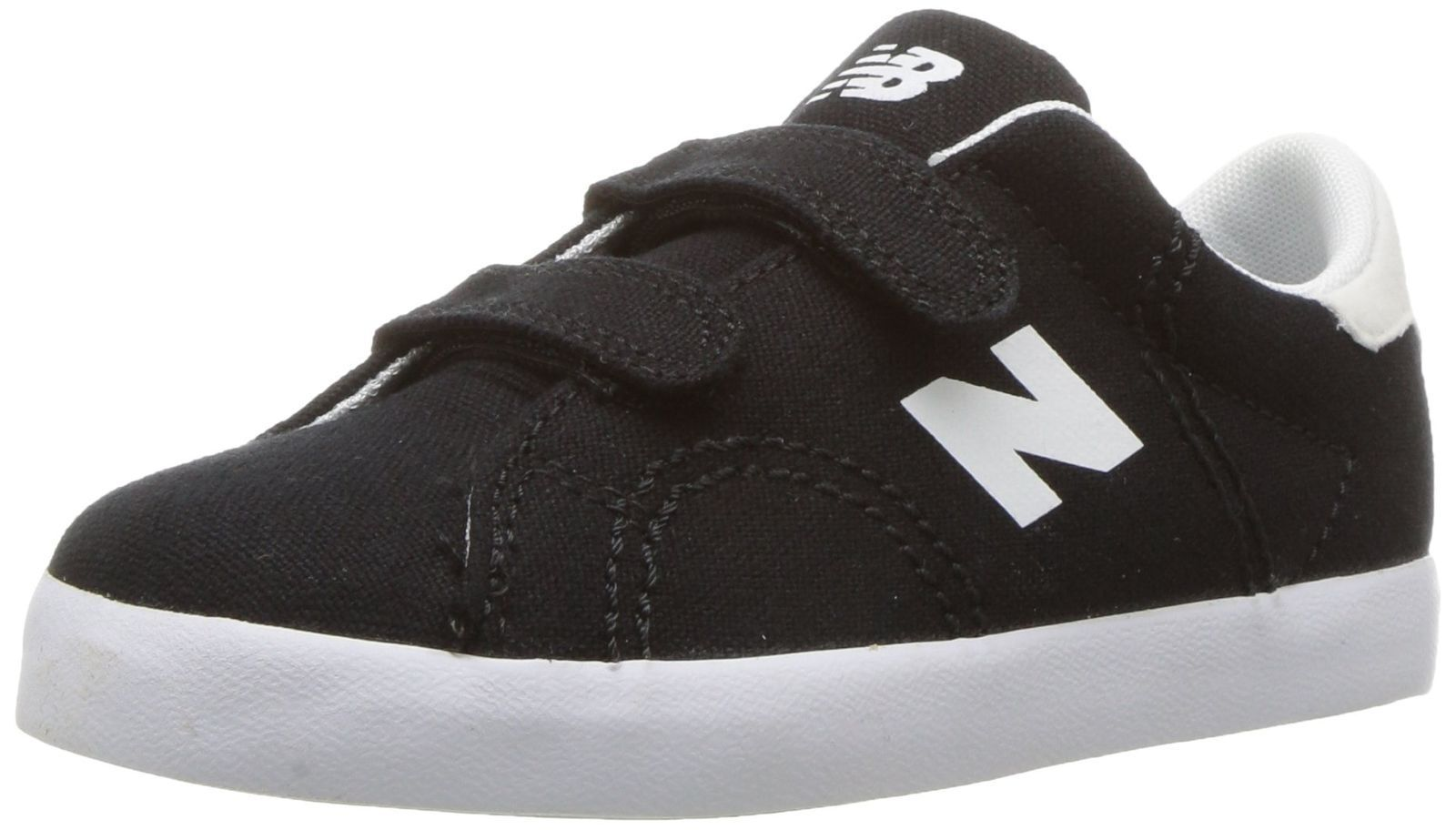 New Balance KVCRTBWI Boys Hook and Loop Sneaker Black White