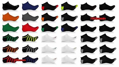 6 Pack Elite Collection Mens Low Cut Cool No Show Ankle Socks Black Lot 10 13