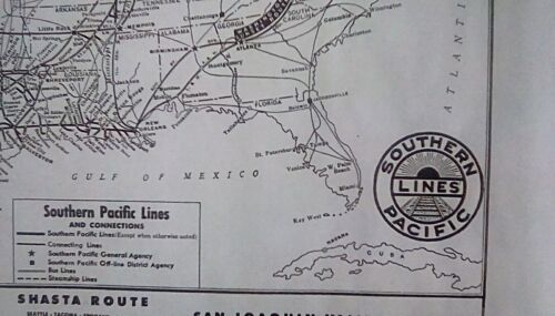 SOUTHERN PACIFIC LINES 1962 - 16 X 20 SYSTEM MAP - COMPLETE DETAILED *HISTORIC*