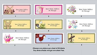 Personalized Return Address Labels Primitive Country Buy 3 Get 1 Free Pc 15