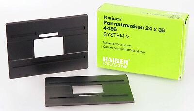 Kaiser Formatmasken 24X36 4486 für System-V Vergrößerungsgeräte neu 09492
