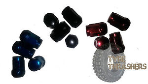 wheel-nuts-lugs-blue-black-red-chrome-Ford-Holden-Nissan-Toyota-Honda-Mazda-kia