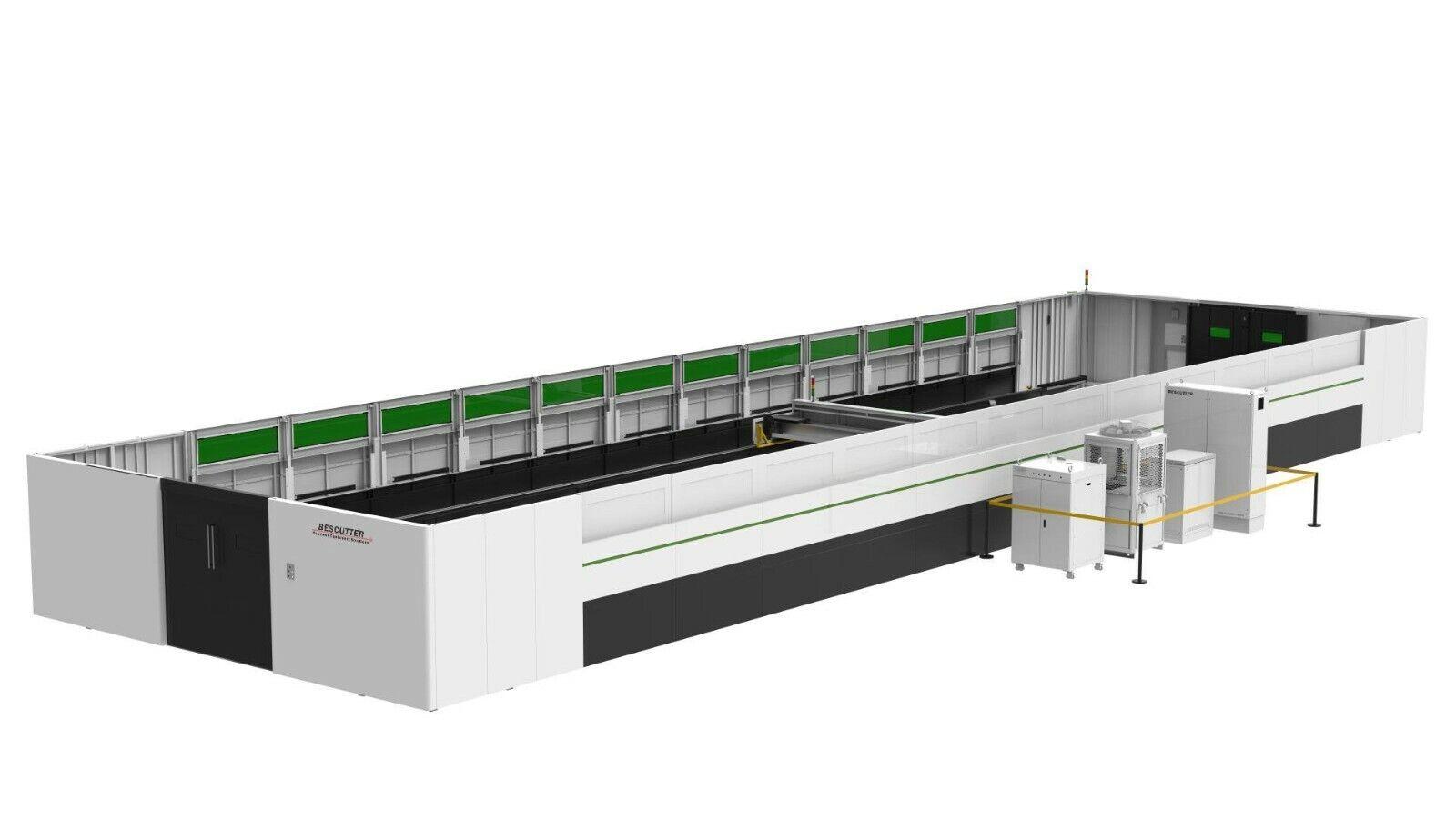 NEW BESCUTTER GIGA SERIES 12KW 10'X40' IPG FIBER LASER CUTTER