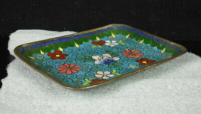 Empty Pocket or Cup Copper Enamelled Asian China c1950 Enameld Cup Cake