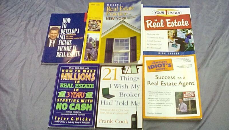 LOT OF 6 REAL ESTATE BOOKS & BONUS CALCULATOR