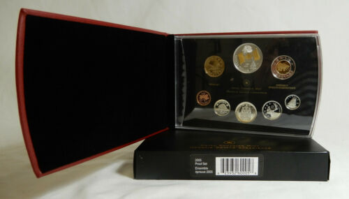 2005 Canada Double Dollar Proof Set With 40th Anniversary Flag Commemorative