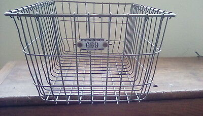 Locker Storage Bins (Vtg Metal Wire Bins Baskets for Storage Decor Pool Lockers American)
