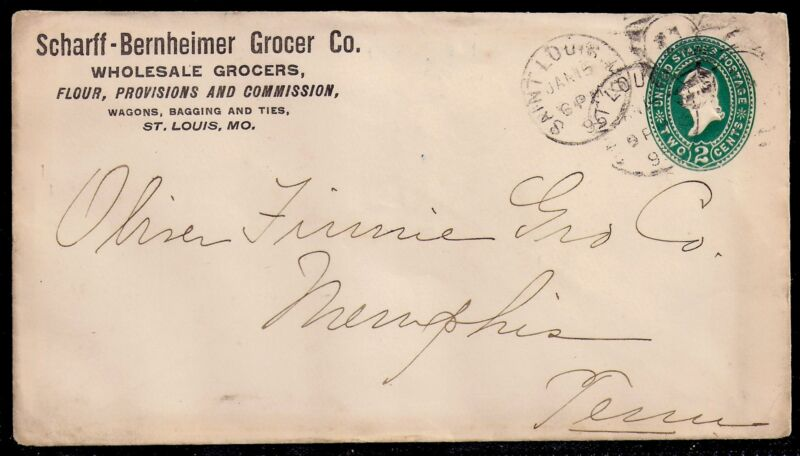 1895 Grocer Advertising Cover - St Louis, Missouri to Memphis, Tennessee