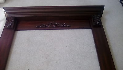 FIREPLACE MANTEL SURROUND WITH A FULL MANTEL--CHERRY FINISH...FREE SHIPPING