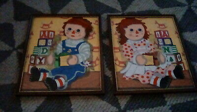 raggedy ann and andy picture frame ()