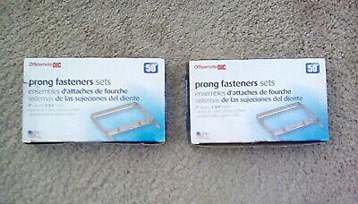 2 Prong Paper Fasteners 2 Inch Capacity 2.75 Inch Base Box Of 50