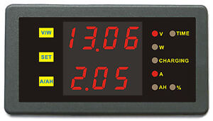 DC-120V25A-Volt-Amp-Battery-Capacity-AH-Power-Combo-Meter-Charge-Discharge-Timer