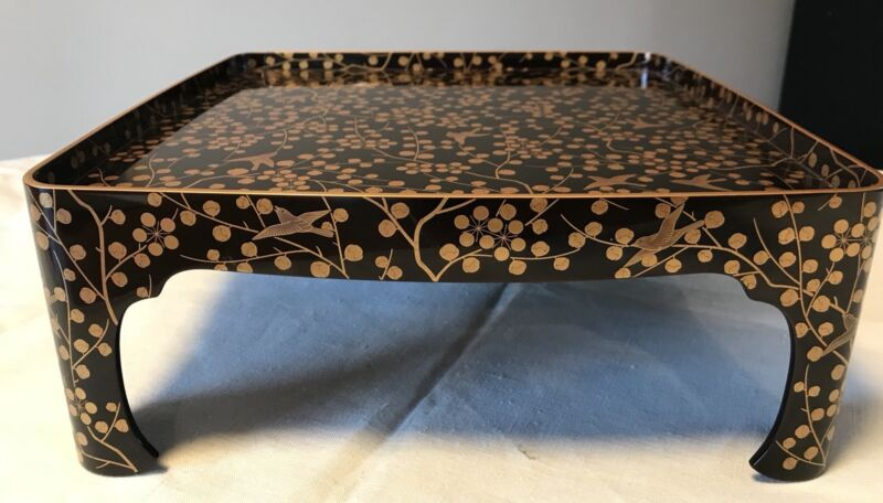 Edo Period Japanese Lacquerware Tray w/ Original Certificate 1820 From Yamanaka