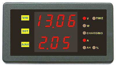 Battery Monitor DC 120V 30A Dual Voltmeter Ammeter Car Auto Voltage Gauge Meter