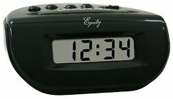 31003 Equity by La Crosse Digital Alarm Clock Black Case with LCD Display