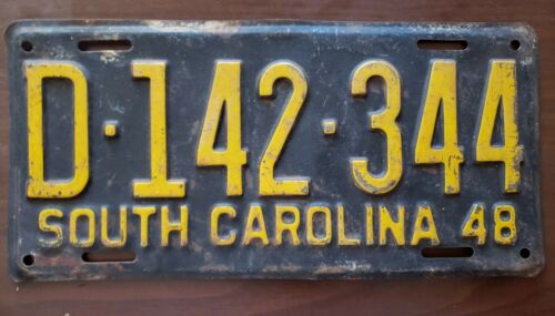 1948 SOUTH CAROLINA LICENSE PLATE (D-142-344)