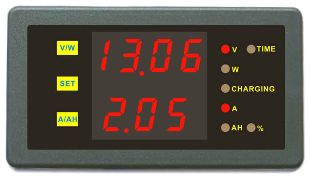 Battery Monitor State of Charge 120V 100A Voltage Current Capacity Power Meter