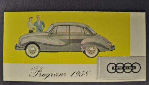 1958 DKW Brochure Auto Union 3=6 Coupe Wagon Sedan Van Cross Country 4x4 58