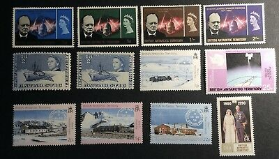 BAT 1965 Churchill Commemoration Set MM + Others (some MNH)