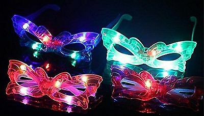 12 Pc Adorable Butterfly Light Up Flashing Glasses For Children party (4 Colors)](Light Up Butterfly)