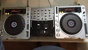 2 CDJ-800mk2 + Mixer Numark DXM01