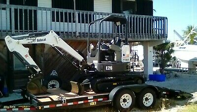2016 Bobcat E26 Mini Excavator 2 Speed Aux Hydraulics Hyd Thumb 24.8 Hp