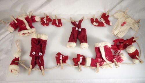 Vintage Christmas Santa Claus Clothesline Garland -  58841