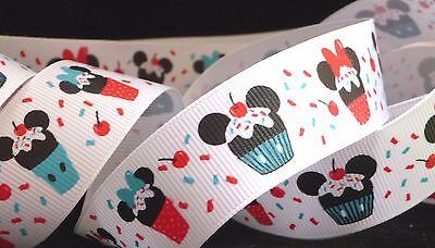 1 inch MICKEY MINNIE Mouse cupcake sprinkles ears head Disney grosgrain - Minnie Mouse Sprinkles