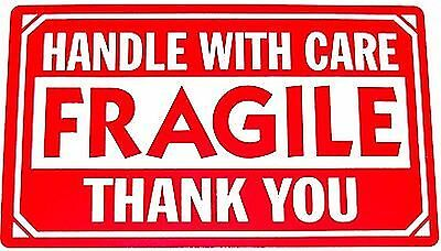 1000 2x3 FRAGILE Handle With Care Shipping Labels Red and White on Rummage