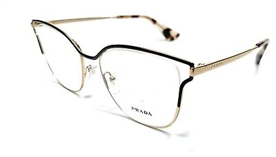 Prada VPR 54U QE3-1O1 Gold Women's Authentic Eyeglasses Frame 53-17