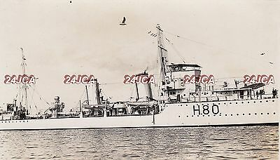 "Royal Navy Real Photo. HMS ""Brazen"" Destroyer. Midsection! Plymouth Sound.  1931"