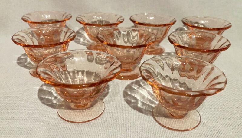 Fostoria Fairfax PINK NUT CUPS - Set of 9! 266R