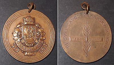 Medaille 50 J. Bäcker-Ausbildung Karlin 1885-1935 Závod Pekařských Učnu Czechia