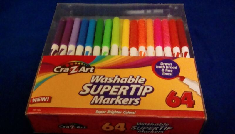 Cra-Z-Art 64 Washable Super Tip Markers