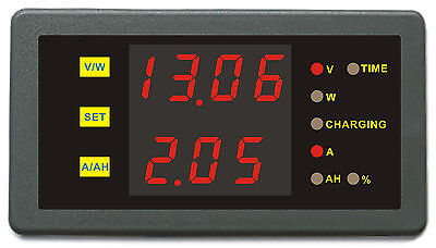 DC 90V 30A Volt Amp Battery Capacity AH Power Combo Meter Charge Discharge Timer