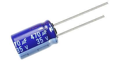 12pcs Panasonic Su 470uf 35v Radial Electrolytic Capacitor