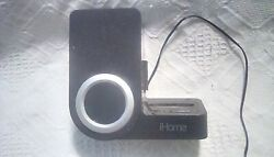 iphone docking station alarm clock, black