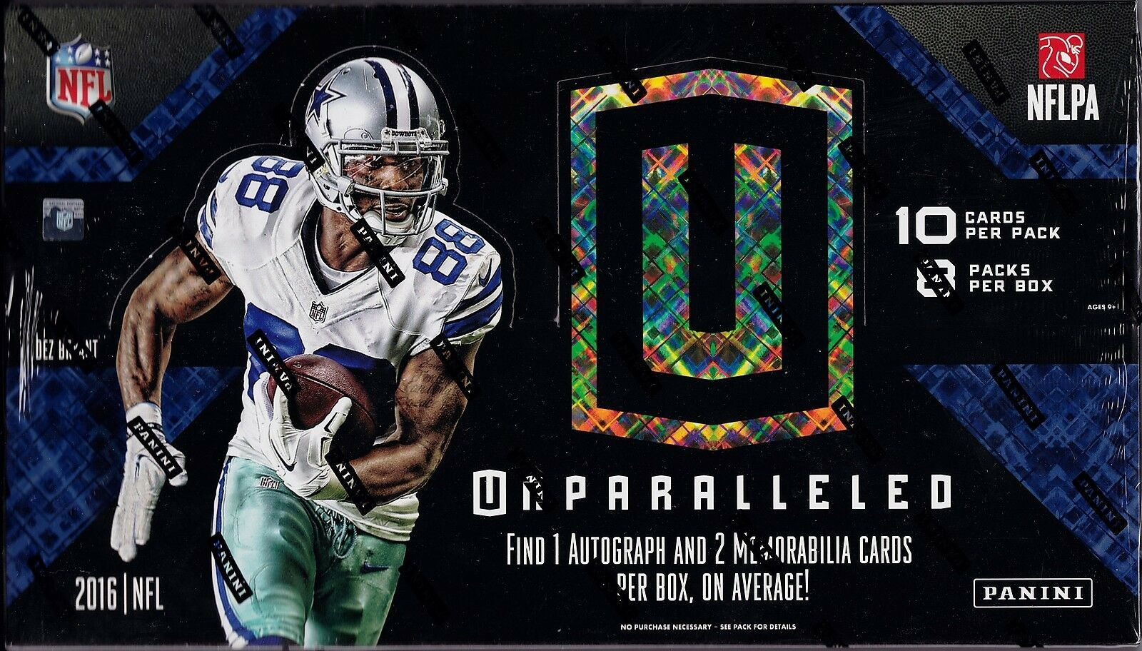 2016 Panini Unparalleled Football sealed hobby box 8 packs of 10 cards 1 auto