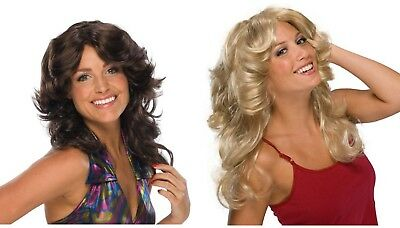 Adult Blond Brown Déjà Vu Farrah Fawcett Disco Angel Costume Wig
