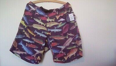 New Kavu mens trunks / shorts  new size M, Fabulous multi coloured Fish design