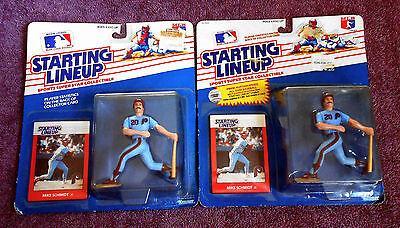 1988 Philadelphia Phillies Kenner Mike Schmidt Starting Lineup Two Variations NR