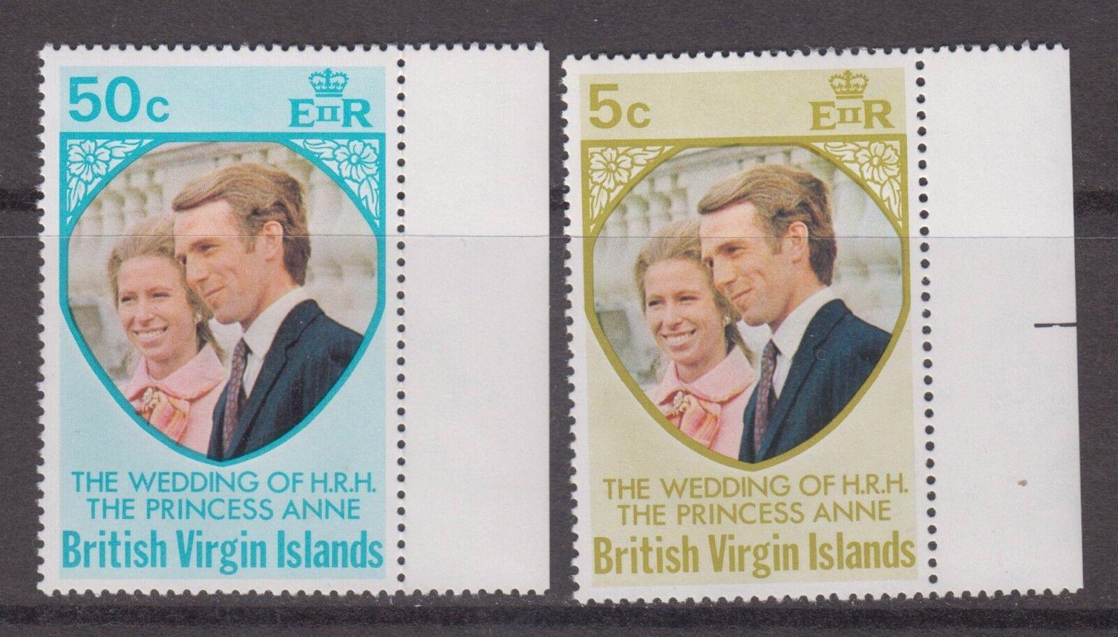 British Virgin Is. 1973 Royal Wedding set SG301-2 MNH